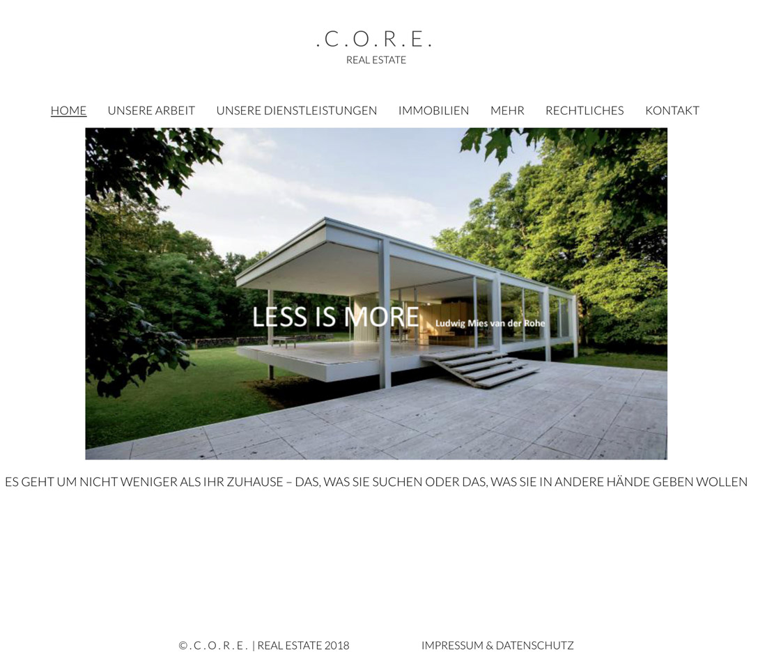 Website Core Real Estate